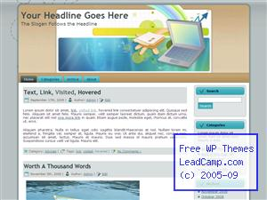Business Sales Report Free WordPress Template / Themes