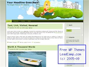 Blogging At The Park Free WordPress Template / Themes