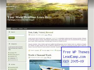 Green Savannah Plains Free WordPress Template / Themes