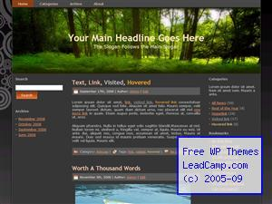 Green Nature Forest Free WordPress Template / Themes