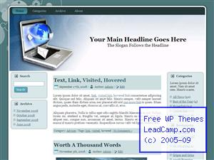World Internet Email Free WordPress Template / Themes
