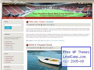 Az Soccer Stadium Free WordPress Template / Themes