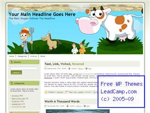 Farmville Fun Game Free WordPress Template / Themes