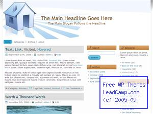 Blue Open House Free WordPress Template / Themes