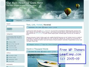 Floating Hot Air Balloons Free WordPress Template / Themes