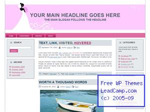 Pink Wedding And Bride Free WordPress Template / Themes