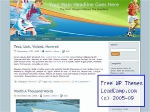Soccer Cup Race Free WordPress Template / Themes