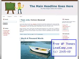 Teacher And Education Free WordPress Template / Themes