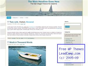 Two Sail Boats At Sea Free WordPress Template / Themes