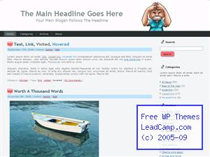Anger Management Free WordPress Template / Themes