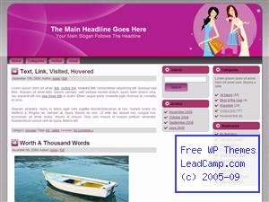 Purple Shopping Gals Free WordPress Template / Themes
