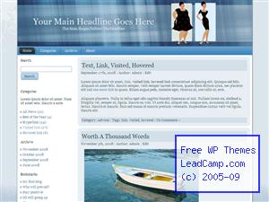 Weight Loss New Look Free WordPress Template / Themes