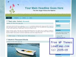 Spring Time Bloom Free WordPress Template / Themes