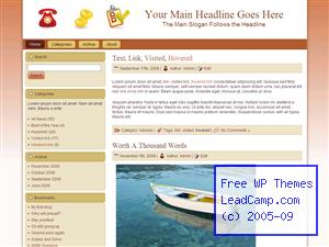 Financial Help List Free WordPress Template / Themes