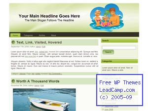 Family Water Play Free WordPress Template / Themes