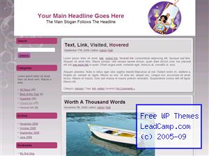 Relaxation At Spa Free WordPress Template / Themes