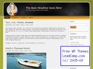 Coffee Lady Chatting Online Free WordPress Themes / Templates