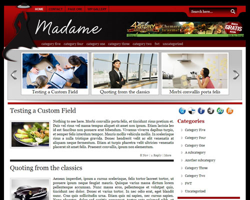 Free WordPress Theme ? Madame