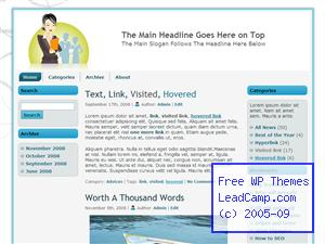 Lady Sales Meeting Free WordPress Templates / Themes