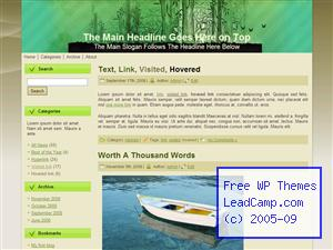 Green Bamboo Forest Free WordPress Templates / Themes