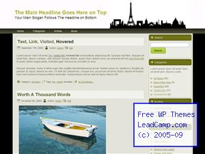 Paris Tourist Landmarks Free WordPress Templates / Themes