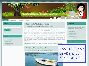 Lady Green Entrepreneur Free WordPress Templates / Themes