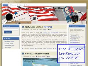Obama Patriotism Free WordPress Templates / Themes