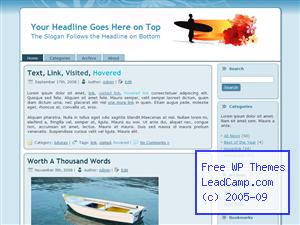 Surfer At Sunst Free WordPress Templates / Themes