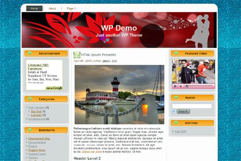 Download 3 columns wordpress themes | A simple Dating wordpress ...