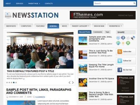 Download 3 columns wordpress themes | NewsStation ? Free Premium ...