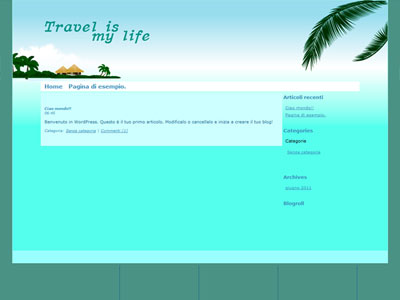 Travel is My Life Blog Screenshot