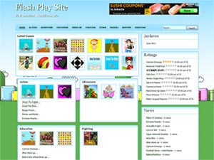 download flash games themes and templates