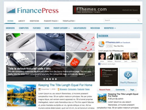 Download Finance Wordpress Theme themes and templates